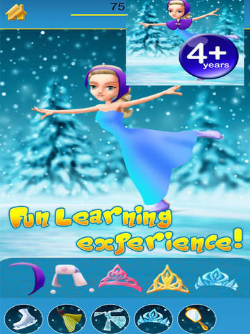 Ice princess skating