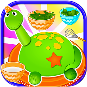 Cake Little Dino Cooking Game icon