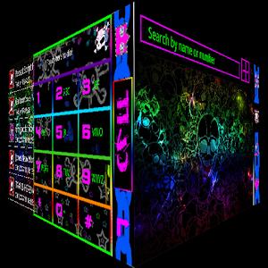 Neon Skull GO Contacts icon