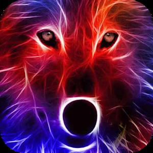 Sparkling wolf LWP icon