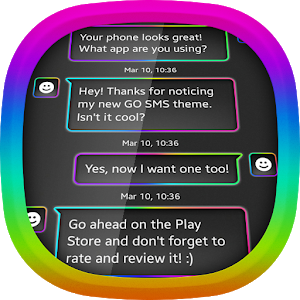 Neon Rainbow for GO SMS icon