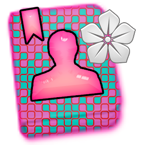 GO CONTACTS - Teal Pink Flower icon