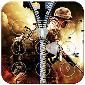 Army Zipper Lock icon