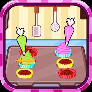 Chocolate cupcake maker icon