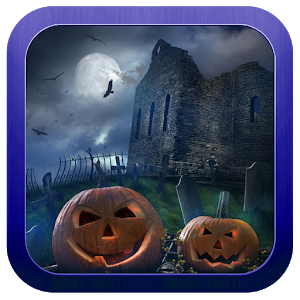 Horror house night icon