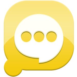 Easy SMS solid Yellow theme icon