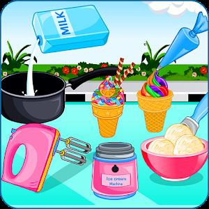 Cooking ice cream and gelato icon