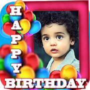 Birthday Greeting Cards Maker Create Photo Frames Icon