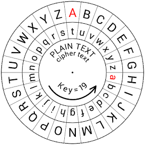 photograph about Printable Cipher Wheel called Caesar Cipher Disk - AppRecs