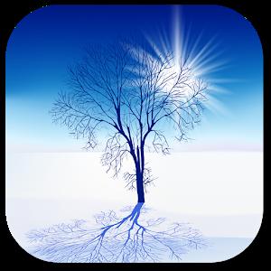 Snow landscape icon