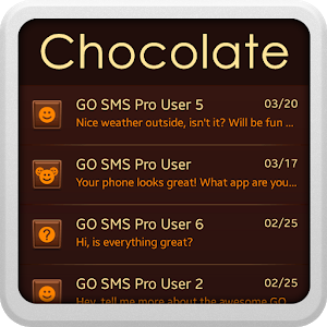 Chocolate for GO SMS icon
