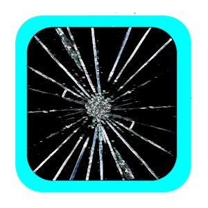 fake cracked screen prank icon