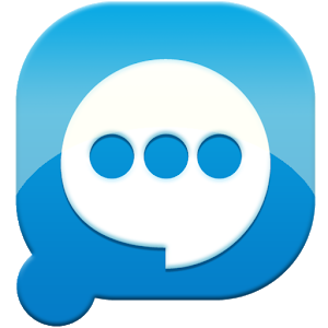 Easy SMS solid Blue theme icon