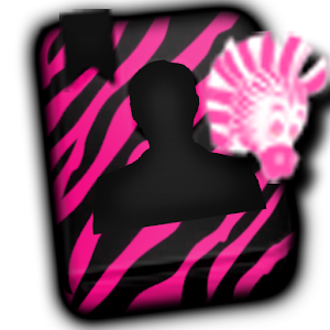 GO CONTACTS - Hot Pink Zebra 2 icon