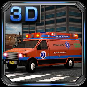 Emergency Van 3D Parking icon