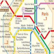Map transport of Paris icon