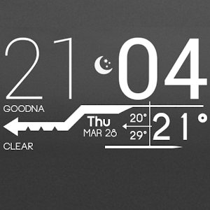 Lines Clock - UCCW Skin icon