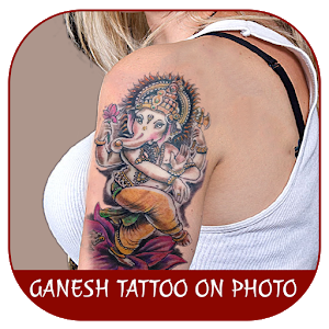 Ganesh Tattoo on Photo icon