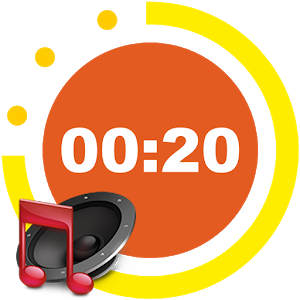 Interval timer with music icon