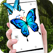 Butterfly in Phone lovely joke icon