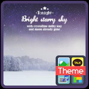 Starry sky K icon