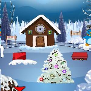 clock house santa escape icon