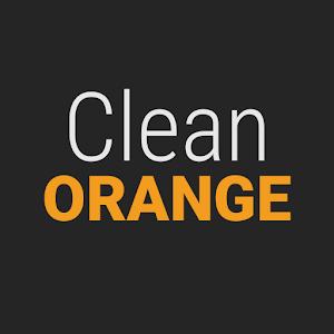 GO Contacts Clean Orange icon