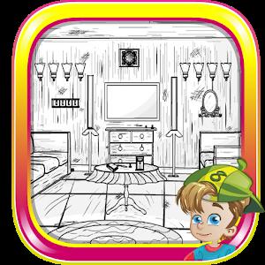 B and W House Escape icon