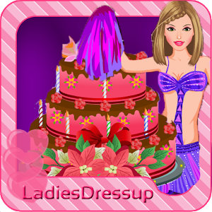 Cheerleader - cake decoration icon