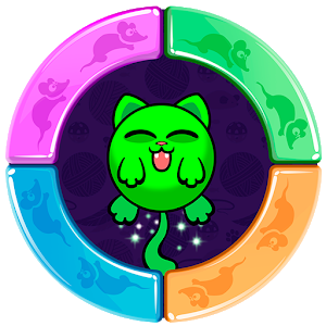 Color Flip Cat Circle Switch icon
