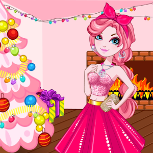 Pink New Year icon