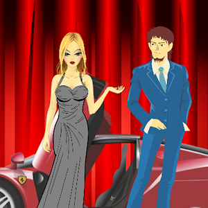 Olga goes to party, Dress up icon