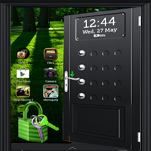 Black Door Screen lock icon