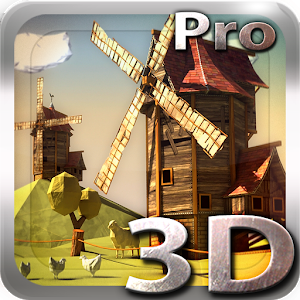 Paper Windmills 3D Pro lwp icon