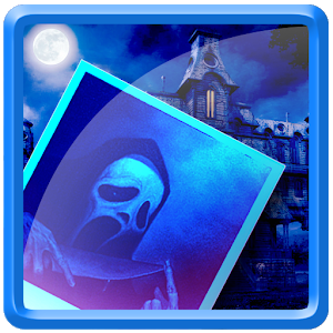 Camera shutter-hunter of ghost icon
