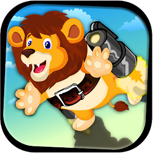 Cute Lion JetPack Adventure icon