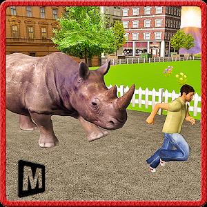 Angry Rhino Revenge Simulator icon
