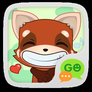 (FREE) GO SMS RED FOX STICKER icon