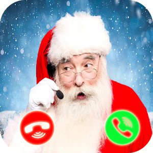 santa claus christmas call icon