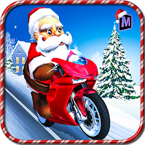 Crazy Santa Moto Gift Delivery icon