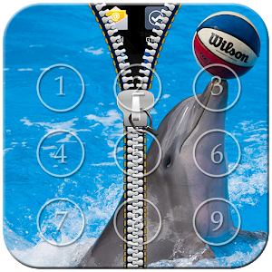 Dolphin Zipper Lock icon