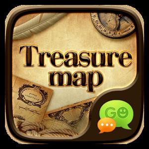 FREE-GO SMS TREASURE MAP THEME icon