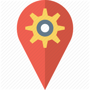 Latitude Longitude gps map icon
