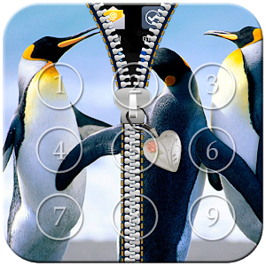 Penguin Zipper Lock icon