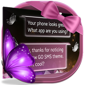 Crystal Butterfly SMS icon