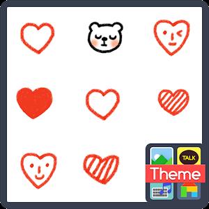 Heart ppyongppyong K icon
