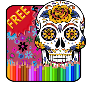 Adult Coloring Sugar Skull icon
