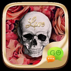 (FREE) GO SMS SKULL&ROSE THEME icon