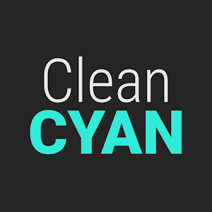 GO Contacts Clean Cyan icon