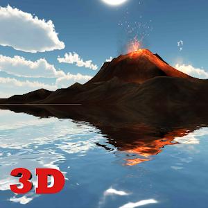 3D Volcano Live Wallpaper icon